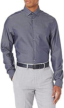 Calvin Klein Men's Dress Regular Fit Non Iron Herringbone Shirt