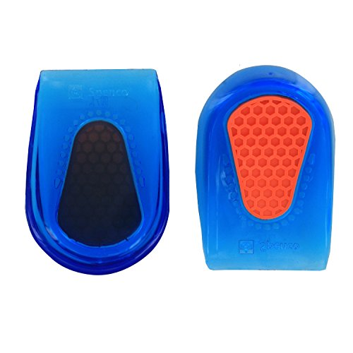 Spenco Gel Heel Cup Shoe Inserts for Pain Relief from Heel Spurs or Bruising, Small/Medium