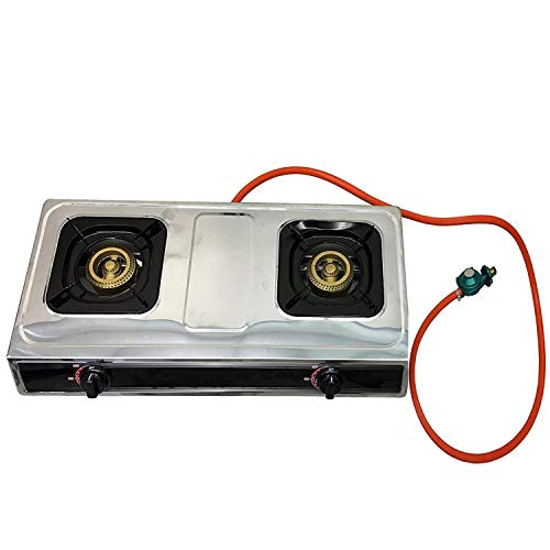 #1 Double Burner Stove Gas Propane Stove Cooktop Commercial Outdoor Whirlwind Burner Camp Cooking