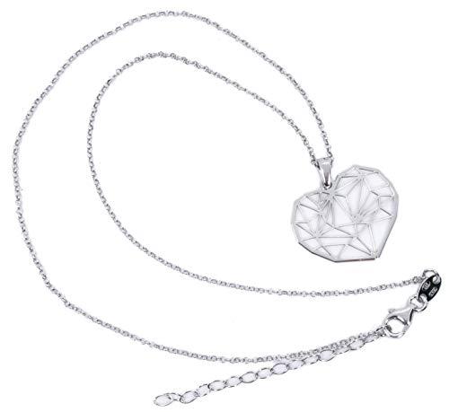 MAGICMOON - Mod. VTP10000272 - Originale collana cuore origami da donna argento 925 rodiato