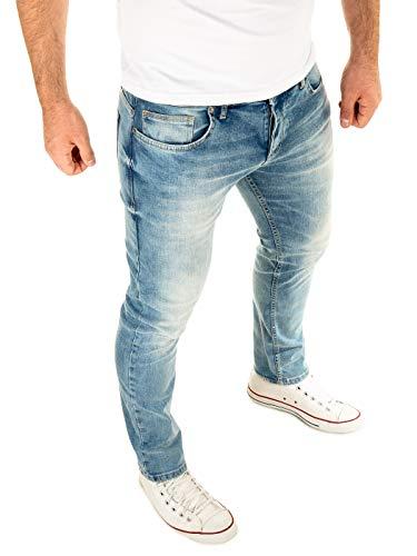 WOTEGA Jeans Herren Alistar Slim fit - Stretch Jeanshose - Blaue Hose für Männer, Blau (Flint Stone 183916), W33/L32