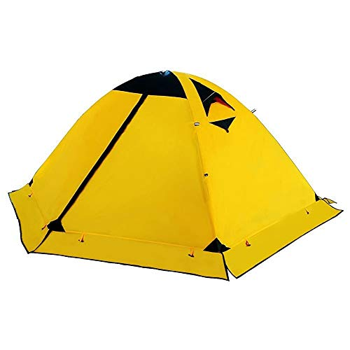 Luorizb Outdoor camping tent 2 people thickened waterproof double couple camping rainproof single four seasons account suitable for camping hiking travel mountaineering