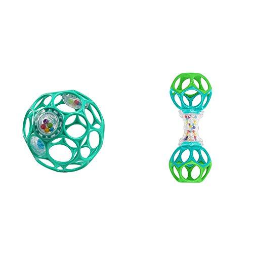 O'ball オーボール ラトル ライトブルー (11486) by Kids II & O'ball オーボール オーシェイカー (81107) by Kids II【セット買い】