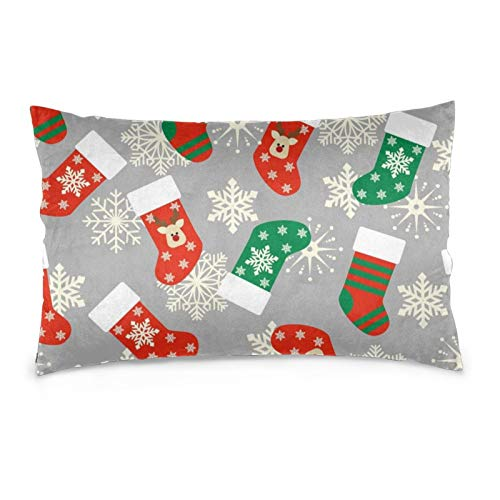 iksrgfvb Pillowcases 16X24inch Christmas Stockings Seamless Pattern. Throw Pillow Covers Sofa Car Cushion Cover Home Decorative 40X60CM