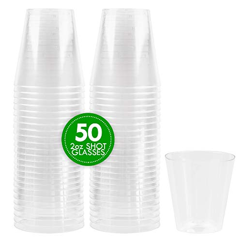 2 oz plastic shot glasses