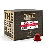 Note d'Espresso Italiano - Cápsulas de café Sistema Nespresso, compatibles con cafeteras Nespresso, Clásico, 100 x 5.6g