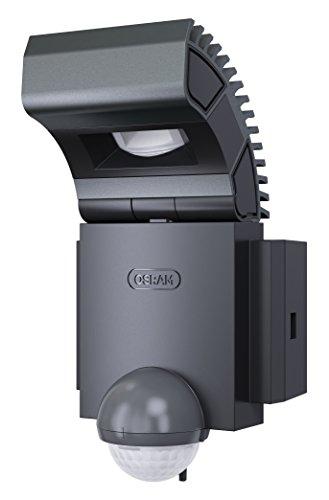 Osram LED Spot, Noxlite, Außenlampe, Außenstrahler 60° schwenkbar und 70 ° kippbar, Bewegungsmelder, Dämmerungssensor, anthrazit, Kaltweiß- 6000K