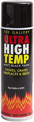 The Gallery Ultra High Temperature matt Black Stove Paint 450ml