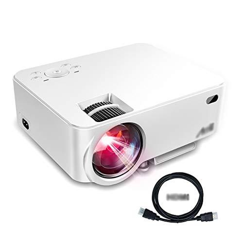 Xxw Artlii Mini Proyector portátil Proyector de Video de Cine en casa 1080P LCD for Ver Partidos Deportivos o películas for la Familia o la Fiesta