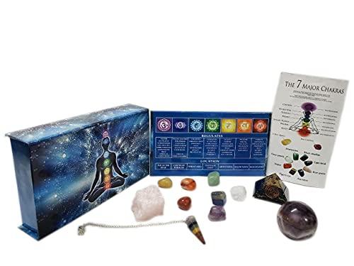 KACHVI Cristales curativos Piedras curativas Curación 7 Piedras Naturales de Chakra caídas/meditación...