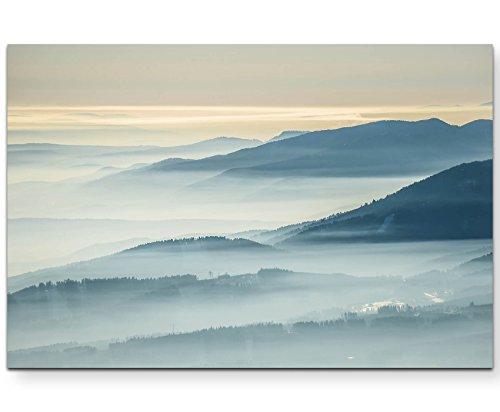 Paul Sinus Art Leinwandbilder | Bilder Leinwand 120x80cm Landschaft mit Distanz fotografiert