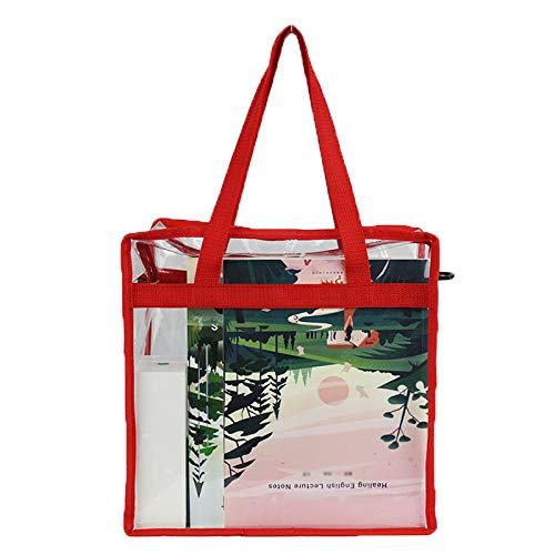 Bolsas grandes transparentes para llevar al hombro para viajes, playa, trabajo, gimnasio, estadio aprobado