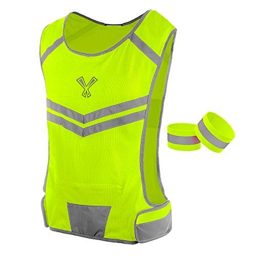 247 Viz The Reflective Vest with Inside Pocket & 2 High Visibility Running...