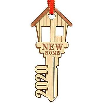Xmas Christmas Ormament 2020 Wjit House Amazon.com: WAVEJOEY 2020 Christmas Ornament Double Layer New Home