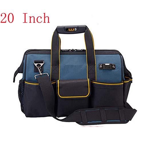 OneCherry Shop Shoulder Tool Kit Bag Hardware Electrician Hand Tool Bag Work Tool Storage Bag Messenger Toolkit Bag,20inch