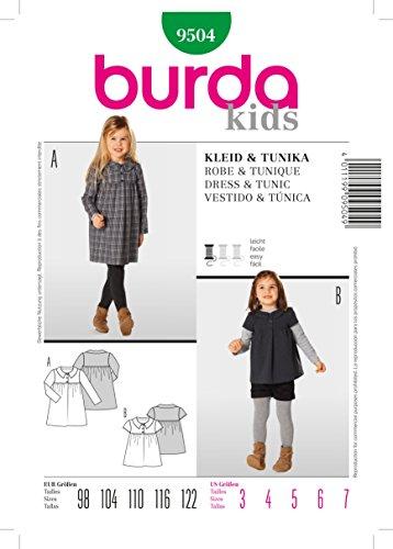 Burda Schnittmuster 9504 Kleid & Tunika Gr. 98-122