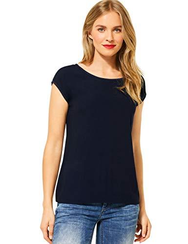Street One Damen 315090 2in1 Materialmix T-Shirt, deep Blue, 42