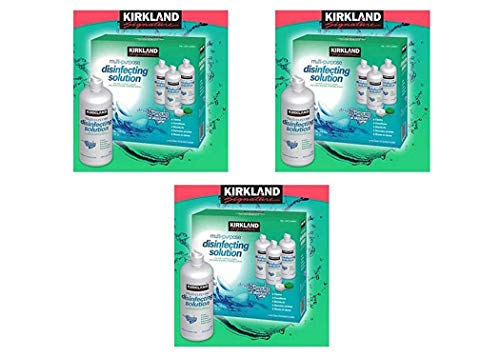 Kirkland Signature Multi-Purpose Sterile Solution for Any Soft Contact Lens, 3 Count (16 oz Bottles), Pack 3