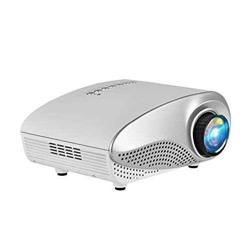 Smart Projector,1080P Mini Multimedia Home Theater Video LED Projector,Equipped with Multiple Input Interfaces,HDMI/AV/VGA/USB/ SD Card Interface(White)