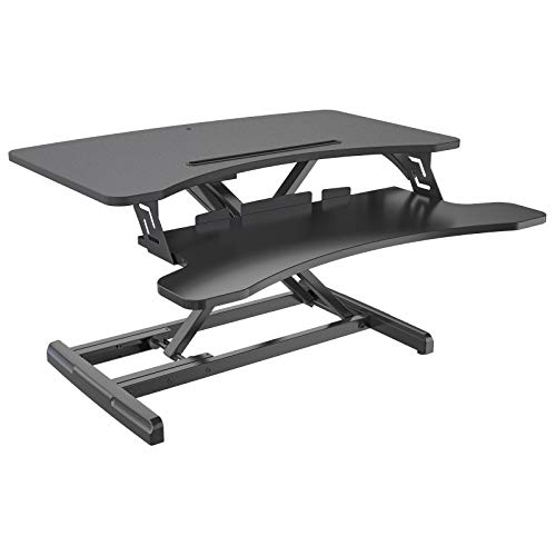 HFTEK Sitz-Steh-Desktop-Schreibtisch Arbeitsplatz Sit & Stand Laptop Mount Workstation (FY63GSD)