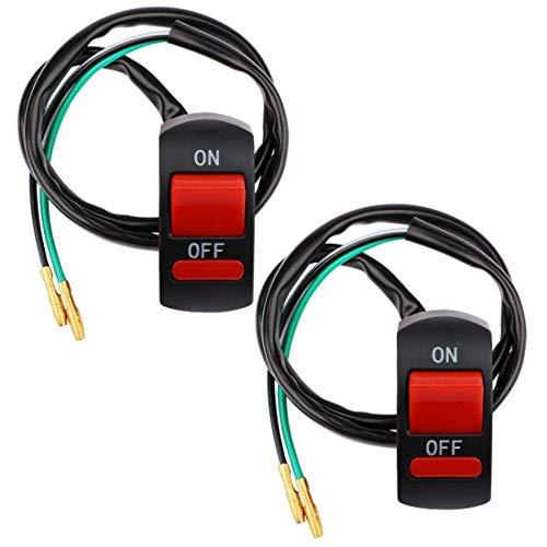 Gebildet 22mm Universal Interruptor de Luces Antiniebla para Manillar de Motocicleta,ON/Off Interruptor Botón para Luz Frontal