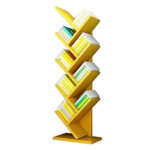 DHTOMC Estante de librería Simple Moderno de Nueve Capas Bookshelf Bookshelf Books Pantalla de CD Soporte Piso Bookshelf Can Bear 50kg Pantalla de estantería (Color: Amarillo) Xping (Color : Yellow)