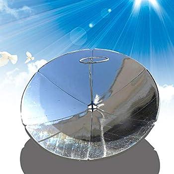 LiFuJunDong 1800W Concentrating Solar Cooker Solar Cooker Sun Oven Outdoor Oven 1.5m Diameter Parabolic Focal Spot Temperature 700-1000°C