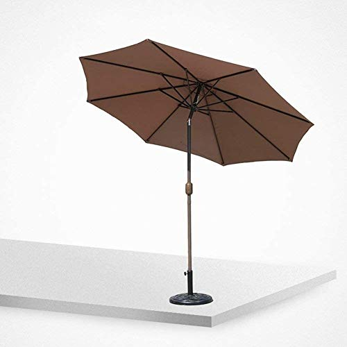 REWD Outdoor Patio Umbrellas Parasols Umbrella Market Patio Outdoor Garden Lawn Table Sun Canopy UV Protective 270cm*230cm Windproof (Size : Coffee Color)
