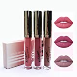 3 Couleur Rouge à Lèvres Liquide Mat Longue Tenue Waterproof Set Liquid Lipstick Matte Sexy Lip Gloss Kit Lip Gloss Lips Lipstick Set # 06