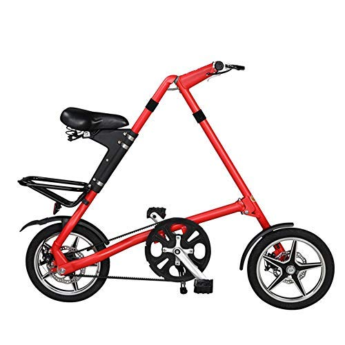 WJSW Rennrad Faltrad 16 Zoll 14 Zoll Fahrradfelge, BXW Complete Rennrad, Retro Rahmenbeschichtung Rahmentyp, Rot