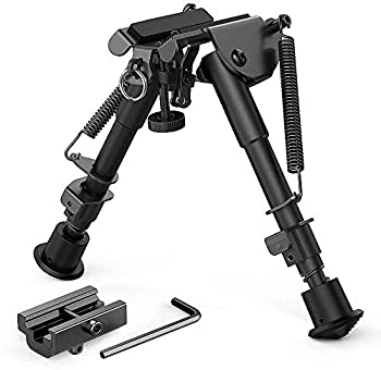Kayheng Adjustable 6-9 Inches Tactical Bipod Spring Return Bipod with Sling Mount and 20mm Picatinny Weaver Rail Mount