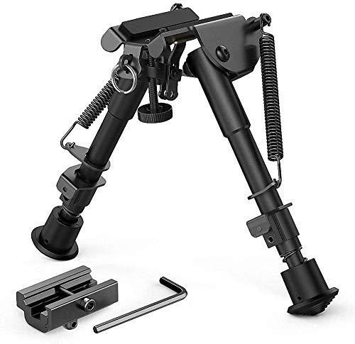 Lejie 6-9 Zoll Taktisch Gewehr Zweibein, Teleskop Pendelkopf Halterung Stützrahmen 20mm Halterung Stativ Nachrüstung Zubehör mit Adapter Bipod