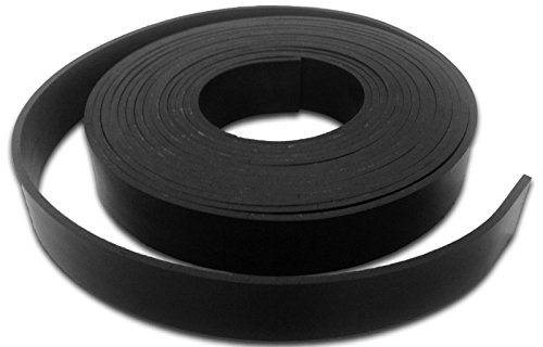 Solid neoprene rubber strip - 1.5mm thick, various widths available - 5/10m lengths - door seal, weather strip, gasket making (5m x 50mm wide)