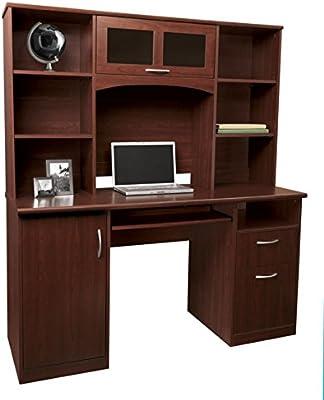 Landon Desk with Hutch, Cherry