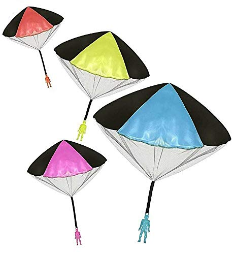 Parachute Men, Parachute Toy, No Tangle Throwing toy Parachute, flying Toys, Parachute Man, No Assemble or Batteries Required (4 Pack)