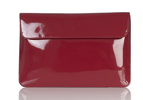 knomo Leather Envelope Case for 11 inch MacBook Air - Red Patent