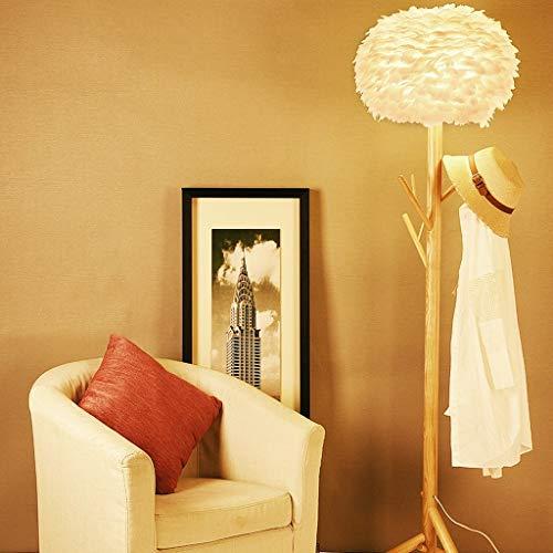 LY88 licht massief hout boom Hanger veren staande lamp 0609A kleur: B-wit