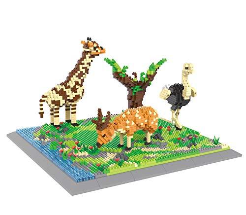 Mini bloques de construcción en miniatura, juego de modelos del mundo animal, modelo 3D, regalo creativo de juguete para niños. C,6629