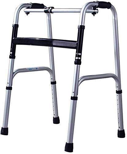 BXU-BG Rollstuhl-Aluminium Walker Behinderte Spazierstock ältere Gehen Rahmen, One-Button Folding Portable (Farbe:...