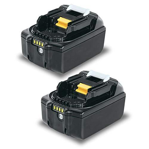 LabTEC 2 BL1850 baterías 18V 5000mAh de litio de repuesto para Makita baterías 18V BL1815 BL1830 BL1835 BL184 BL1860 LXT400 Inalámbrico eléctrico Herramienta con indicador LED.