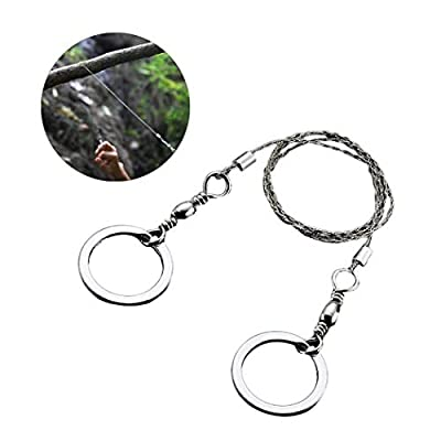 Ktdzone Survival Steel Saw Universal Camping Saw, Commando Wire Saw Bulk,Ideal for Survival Kits 1PC