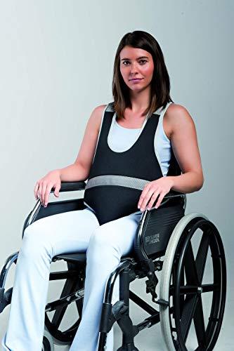 Obbocare | Chaleco de Sujeción para silla de ruedas con Pieza Perineal | Sistema de cierre y ajuste por clip (Talla M) ✅