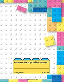 """Handwriting Practice Paper: Blank Lined Notebook Primary Ruled With Dotted Midline, Colorful Blocks  Composition Book for Kids from Kindergarten to 3rd Grade ( 8.5"""" x 11"""" 100 pages))"""
