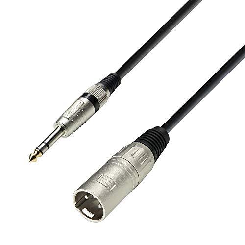 K3 BMV 0100 Mikrofonkabel XLR male auf 6,3 mm Klinke stereo 1 m