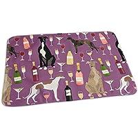 Tela de galgos y vino, diseño de perros y vino con burbujas de tela para celebración – Amatista, cambiador portátil, reutilizable, 25,5 x 31,5 cm