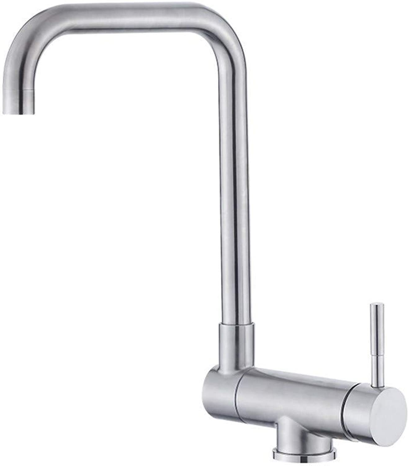 Oudan 304 Stainless Steel Cold Vegetables Basin Kitchen Faucet Mixing Valve 360-Degree redating TankS65-UE6589321575 (color   -, Size   -)