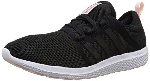 adidas Performance Women's Fresh Bounce W Women's Running Shoe,Black/Black/Half Pink,9.5 M US