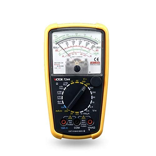 Multímetro analógico portátil, amperímetro eléctrico, voltímetro (VICTOR 7244)