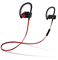 professional Beats by Dr Dre Powerbeats2 Wireless Bluetooth In-Ear Headphones with Microphone-Black (Playback)