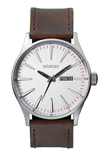 Nixon Reloj Analógico para Hombre de Cuarzo con Correa en Cuero A105-1113-00